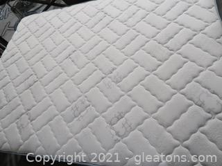 Queen Sealy Adams Way Firm Mattress. Box Spring  And Frame in Great Condition with Two Mattress Covers