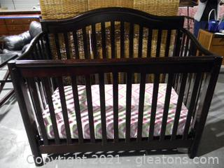 Sorrento Cherry Convertible Crib-to-Full Bed includes Crib Mattress and Sheet