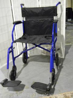 "Medline ""Freedom"" Wheelchair with Foot rest Attachment"