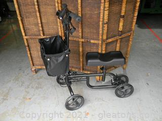 4 Wheel Steerable Knee Walker Scooter W/Storage Bag