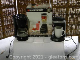 Lot Of 3 Kitchen Selectives Single Serve Coffee Maker Black & Decker 550 Peak Watt Blender