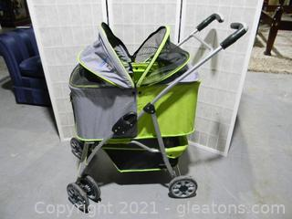 Pet Stroller, Cat/Dog Cage Stroller