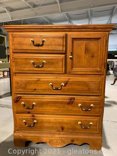 Dresser with Door - Oak Color Finish