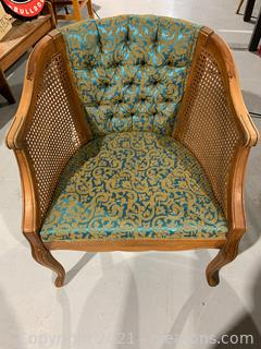 French Regency Tufted Cane Chair