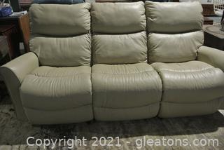 3 Seat Leather Electric Sofa