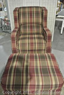Lazy Boy Chair with Matching Ottoman