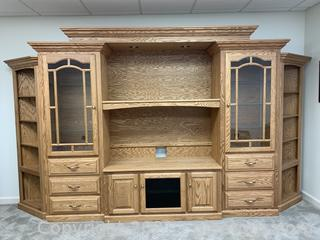 Amish Custom Made Solid Oak Wall Unit