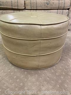 Vintage Round Ottoman