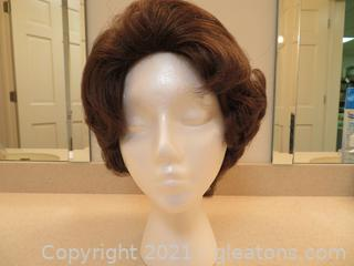 Short, Brown, Synthetic Wig
