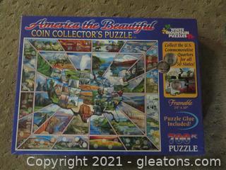 Three 300-700 Piece Puzzles