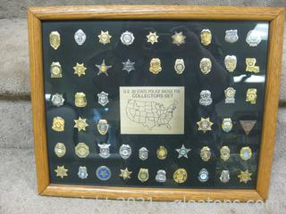 US 50-State Police Badge Pin Set
