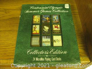 "Collector's Edition Centennial Olympic Games-24 Micro-Mini Playing Card Set 1"" x 2"""