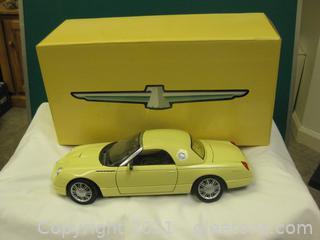 Die-Cast-1:18 Scale – 2002 Yellow Thunder Bird Show Car (B)