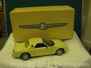 Die Cast-1:18 Scale-2002 Yellow Thunderbird Show Car (A)