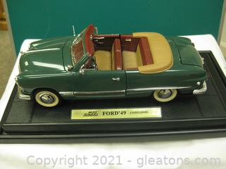 Die Cast Metal-1:18 Scale-Mira Solido 1949 Ford Convertible