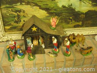 Vintage Italian Nativity Scene Circa 1950's