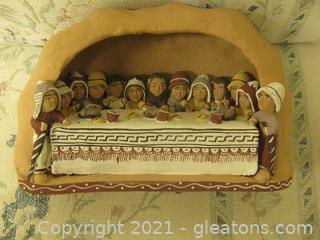 Terracotta Depiction of The Last Supper