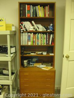 2pc. Wood Laminate Book Shelf with Storage