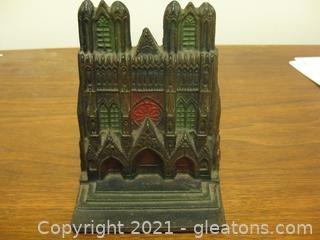 Vintage Wrought Iron Doorstop or Book End