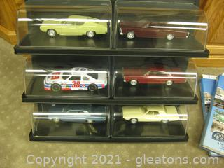 Fabulous Wall Display for the Serious Collector ,Plus 6- 1:18 Scale Cars !