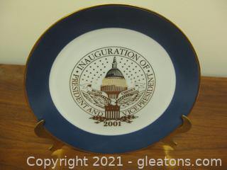 Souvenir Plate From the Inauguration of George Bush/Bick Cheney