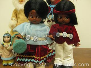 6-pc Native American Doll/Figure Set