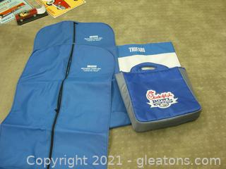 Chick-Fil-A Bowl Souvenir Bag with 2 Beaudry Ford Suit Bags and Trifari Tote