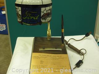 Vintage Coca-Cola Promotional Desk Lamp/Desk Note Pad