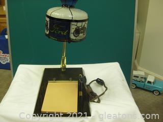 Vintage Coca-Cola Promotional Desk Lamp/Desk Note Holder