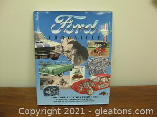 """Hard Back Coffee Table Book """"Ford Chronicle"""" (A)"""