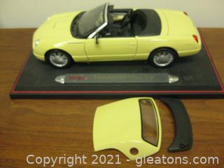 Die Cast- 1:18 Scale -2002 Yellow Thunderbird Show Car (C)