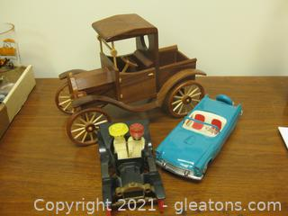 Fun Group of 3 Cars for Decor