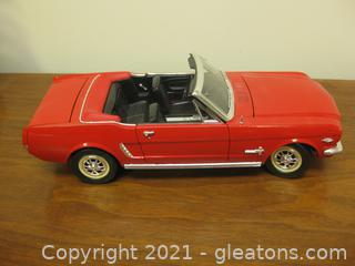 Red Die Cast-1:18-Model of 1965 Mustang Convertible
