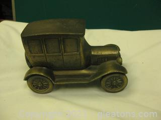 Vintage Gilded Wrought Iron Model of A Ford Model-T