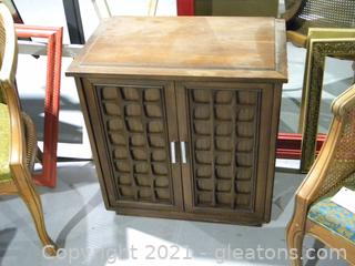 Wooden Cabinet with Decorative Doors
