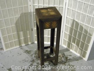 Tall Wooden Side Table
