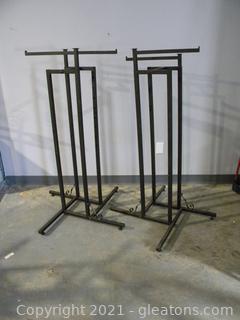 Set of Wrought Iron Clothing Racks
