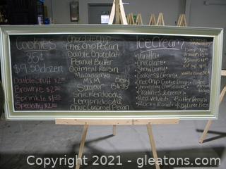 Giant Hanging Chalkboard