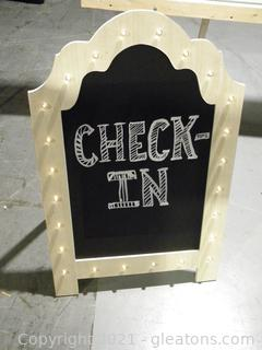 "Light Up ""Check In"" Sign"