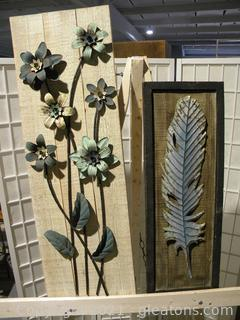 Metal Accent Wall Decor, Set of 2