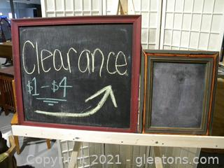 Framed Chalkboard Signs, Set of 2