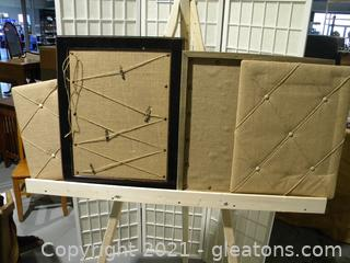 Burlap Display Boards, Set of 4