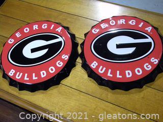 Georgia Bulldogs Bottle Cap Signs