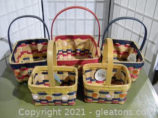 Sports Themed Baskets – Set of 5