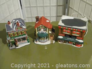 Holiday Expressions House, Set of 3