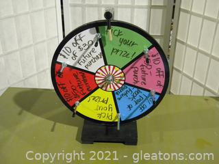 Spinning Prize Wheel