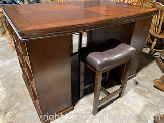 Crafting Desk W/Stools (2)