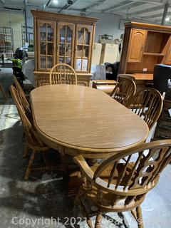 Dining Table W/6 Oak Chairs