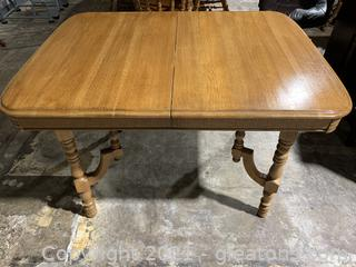 Solid Oak Table W/Leaf