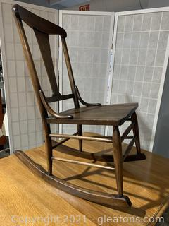 Murphy Armless Sewing Rocking Chair